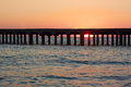 Old Sea Pier At Sunset Stock Images - 34746244