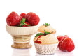 Strawberry Muffins Stock Images - 34746324