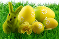Easter Bunny With Easter Eggs Stock Image - 34749461