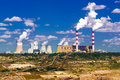 Surface Coal Mining And Power Station Stock Photography - 34754782