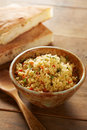 Cold Cous Cous Salad With Vegetables Royalty Free Stock Photos - 34756158