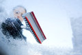 Winter Driving - Scraping Ice From A Windshield Stock Photography - 34756932
