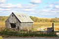 Old Wooden Abandoned Farm Building And Landscape Stock Images - 34764484