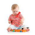 Baby Playing With Toy Royalty Free Stock Image - 34765116