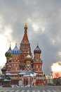 St. Basil Cathedral On Red Square In Early Winter Morning Royalty Free Stock Image - 34767256