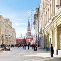 Red Square And Nikolskaya Street In Moscow Royalty Free Stock Photography - 34768497
