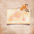 Happy Valentine S Day. Vintage Card With Roses Royalty Free Stock Photos - 34770318