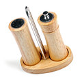 Salt And Pepper Mills  On White Stock Images - 34776784