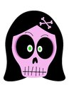 Girl Vector Skull Royalty Free Stock Photography - 34798207