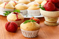 Strawberry Muffins Royalty Free Stock Images - 34804889