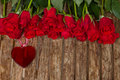 Row Of Roses With Heart Royalty Free Stock Photography - 34805377