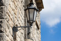 Lantern On The Old Wall In San Marino Royalty Free Stock Image - 34810036