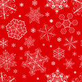 Christmas Seamless Pattern From Snowflakes Royalty Free Stock Photo - 34822995