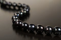 Black Pearl Necklace Royalty Free Stock Photo - 34825255