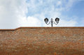 Street Lamp On The Top Of A Brick Wall Stock Photography - 34826582