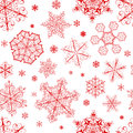 Christmas Seamless Pattern From Snowflakes Royalty Free Stock Photos - 34831388