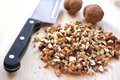Chopped Walnuts Stock Image - 34837921
