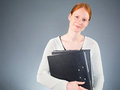 Young Assistant With Office Files Stock Photo - 34840720