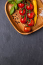 Tomatoes, Pepper And Basil Royalty Free Stock Images - 34851059
