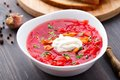 Ukrainian And Russian National Red Borsch Royalty Free Stock Image - 34862896