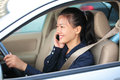 Businesswoman On The Phone In Car Stock Images - 34869924