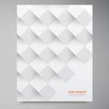 Vector White Squares. Abstract Backround Stock Photo - 34875490
