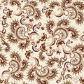 Seamless Ornate Pattern In Beige And Brown Colors Stock Photo - 34883610