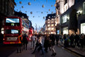 Oxford Street In London At Sunset Stock Photo - 34886220