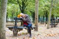 Sad Girl Sitting On A Bench In Park Royalty Free Stock Images - 34890559
