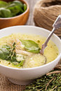 Chicken Soup With Egg And Pasta Royalty Free Stock Photography - 34892707