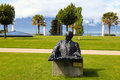 Bronze Statue Of Ray Charles In Montreux, Switzerland Stock Photos - 34899733