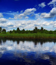 Clouds Over River Royalty Free Stock Photos - 3495338