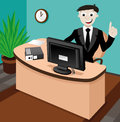 Business Illustration. Business Man. Royalty Free Stock Photography - 34901287