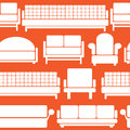 Icons Of Furniture On Seamless Stock Image - 34903341