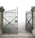 Open Wrought-iron Gate Stock Photography - 34905902