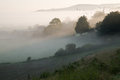Layers Of Fog Over Autumn Agricultural Landscape Royalty Free Stock Photos - 34911078
