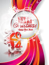 Vector Happy New Year 2014 Colorful Celebration Background Stock Photography - 34916492