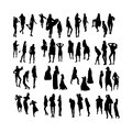Vector Fashion Model Silhouettes. Part 5 Royalty Free Stock Photos - 34921268