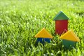 Houses Of The Blocks On The Grass. Royalty Free Stock Images - 34936149