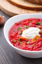 Ukrainian And Russian National Red Borsch Royalty Free Stock Photography - 34938487