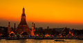 Wat Arun In The Sunset Stock Photography - 34942552