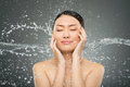 Splash On Face Royalty Free Stock Photo - 34944835