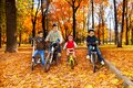 Four Kids In The Bikes Stock Image - 34946361
