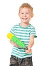 Boy With Water Gun Stock Photos - 34947263