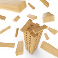 Tower Of Wood Blocks Stock Images - 34947944