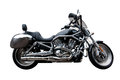 Black Motorcycle Against White Background Stock Images - 34950084