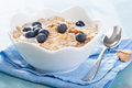 Cornflakes With Blueberry Royalty Free Stock Image - 34951686