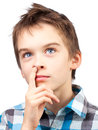 Child Picking Nose Stock Photo - 34953540