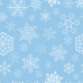 Christmas Seamless Pattern With Big And Small Snowflakes Royalty Free Stock Photos - 34953788