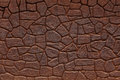 Wall Made of Bricks Color Of Rusty Iron Royalty Free Stock Images - 34964629